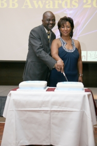 Sunny and Jean Lambe celebrating BBI UK 10th anniversary at BBA 2011